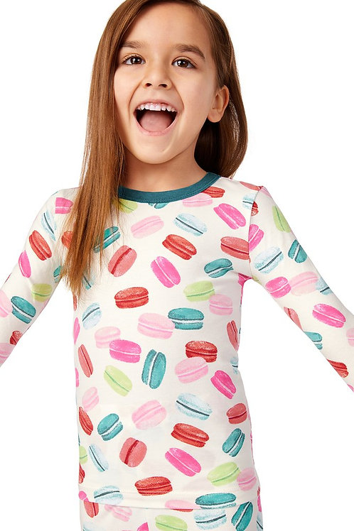 Kids' Macarons Stretch Pajama Set