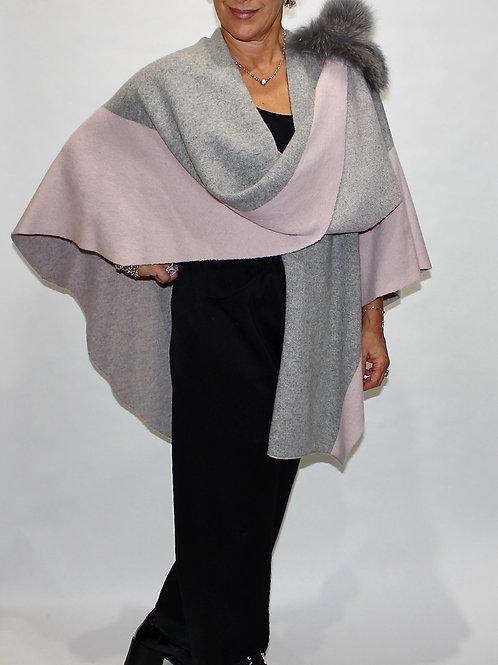 two tone pink grey wrap