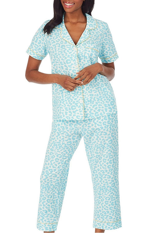 Cheetah Women's Stretch Capri Pajama Set