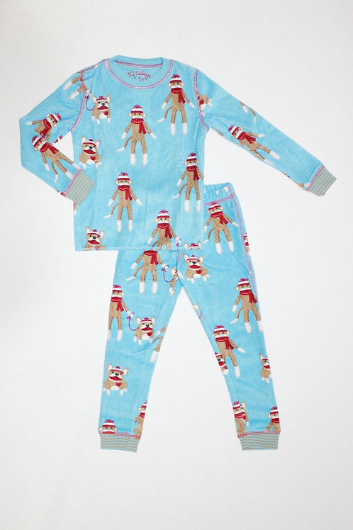 Kids Sock Monkey Pajama Set