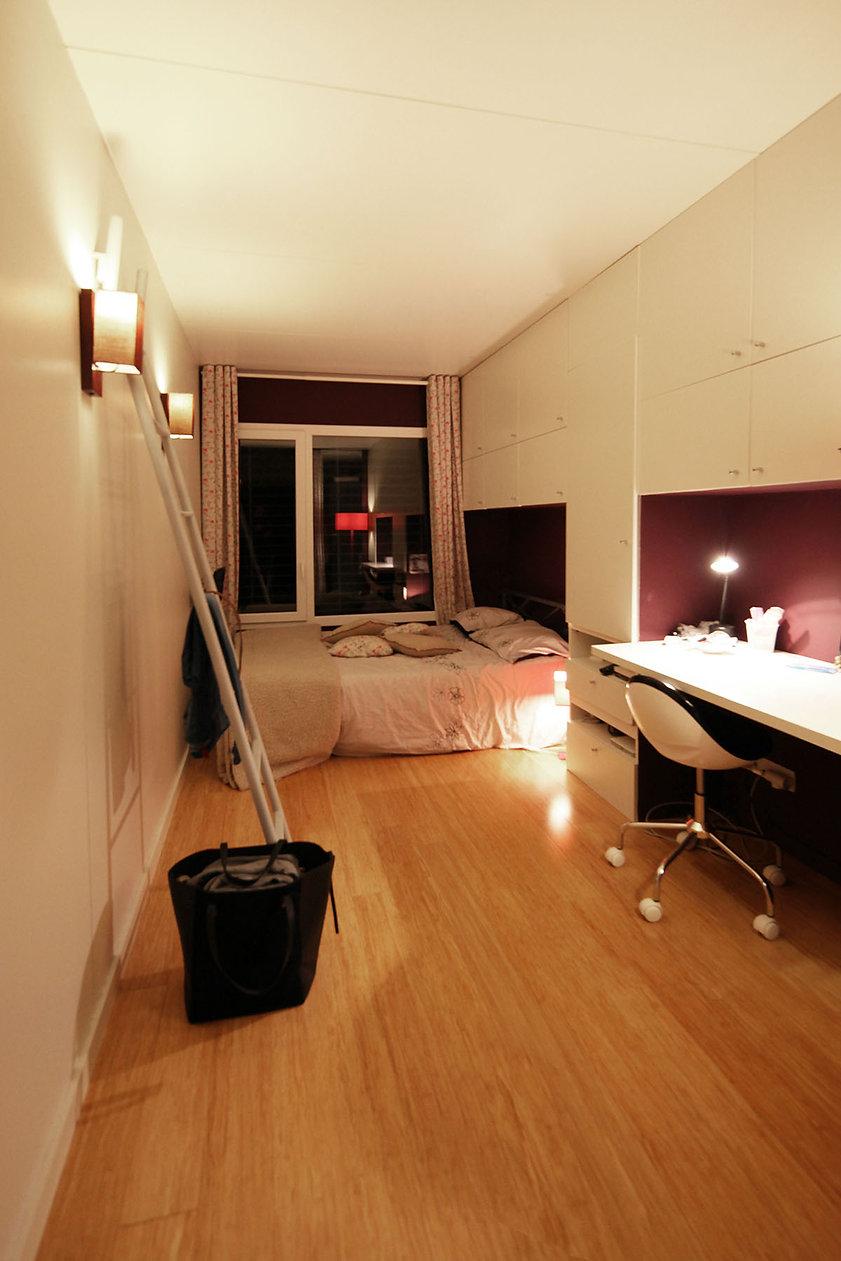 Squarebox chambre aménagée