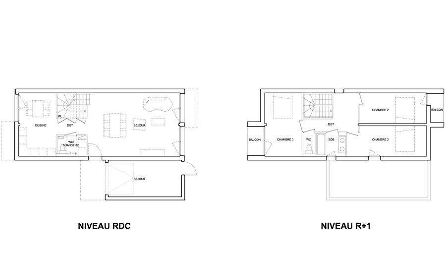 Big box plans maison container