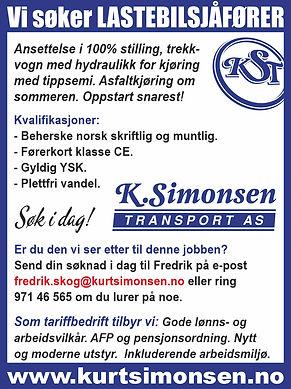 Bilde for Facebook og web - lastebilsjåf