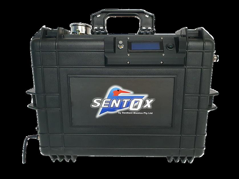 oxygen machine in a briefcase