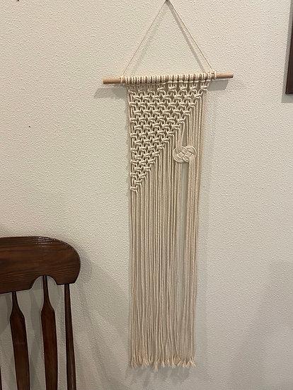 Slimline wall hanging featuring Josephine knot