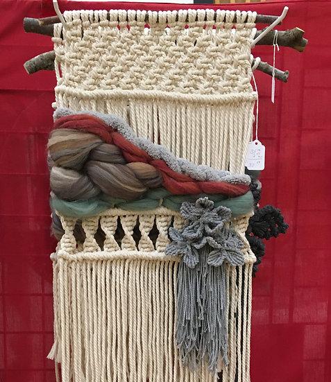 rustic wool roving weaving