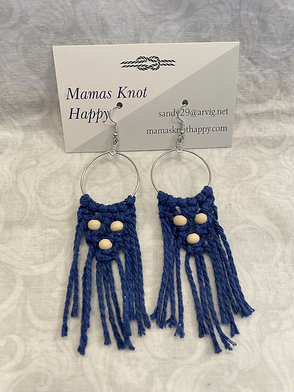 Earrings   Blue with beads