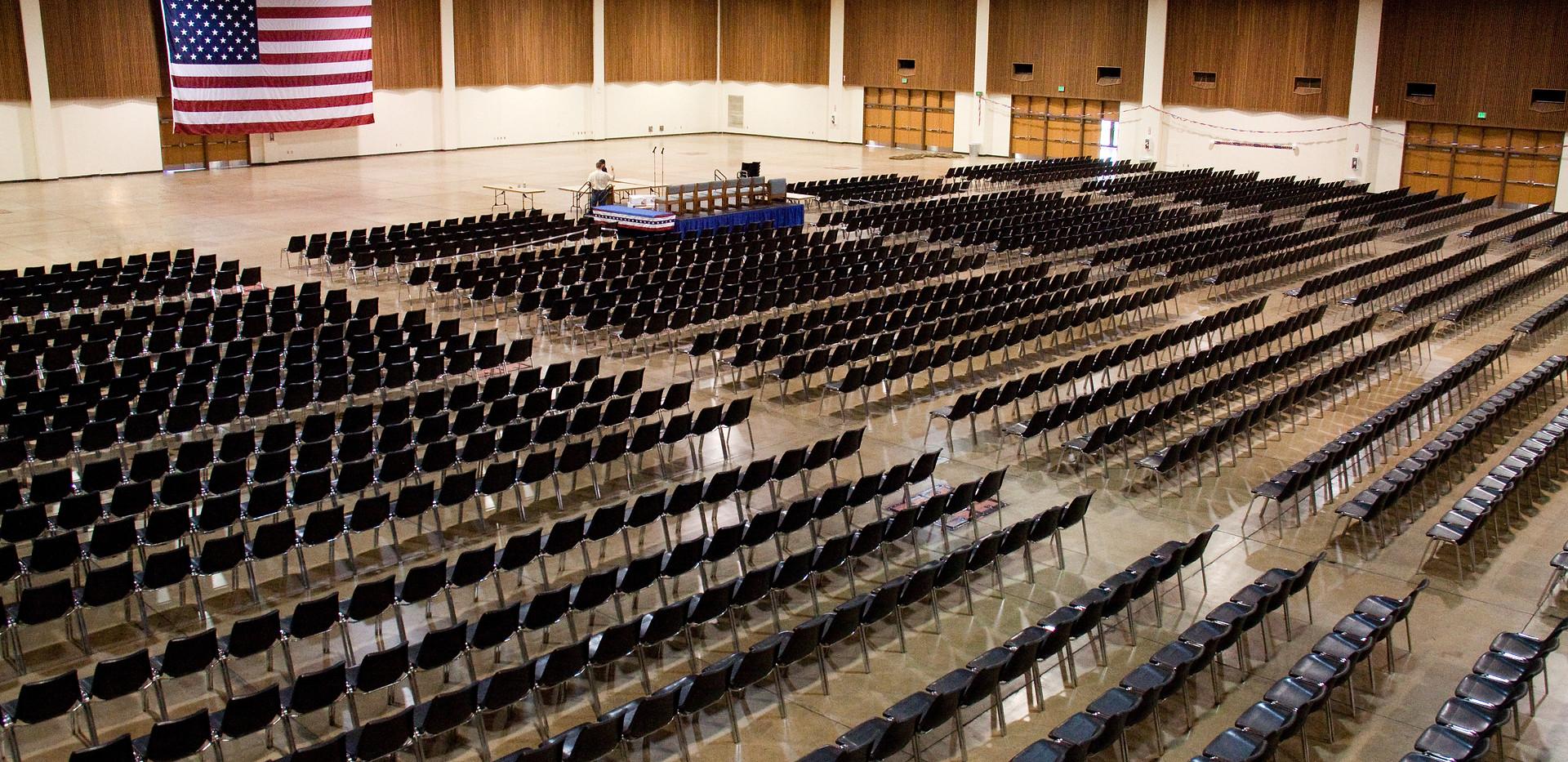 Lane Events Center Exhibit Hall Theatre Style