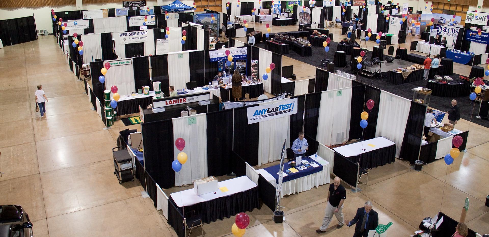 Lane Events Center Exhibit Hall Vendor Set up