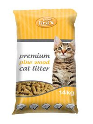 Premium Pine Wood Cat Litter 14kg