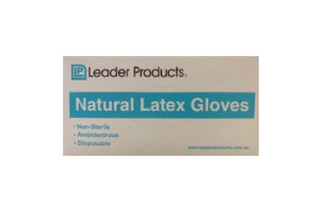 Natural latex Gloves Pk 100