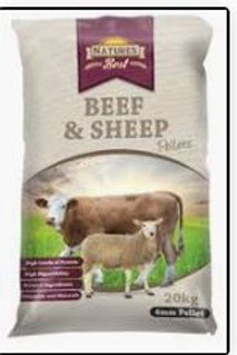 Natures Best Beef and Sheep Pellets  20kg
