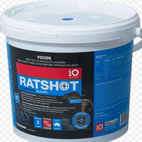 Ratshot Rodenticide Blocks 2kg