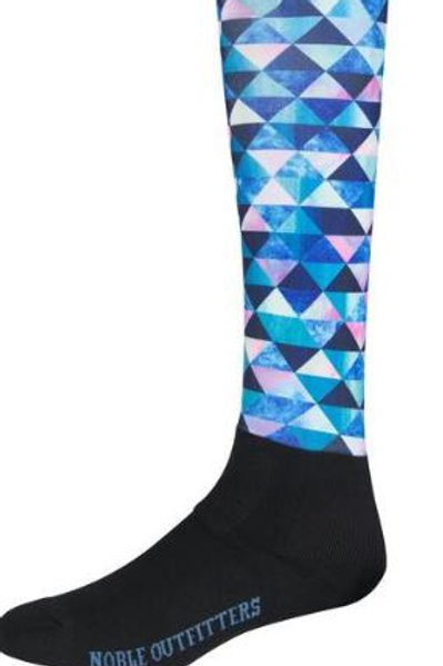 Adult Multi Triangles Peddies Socks