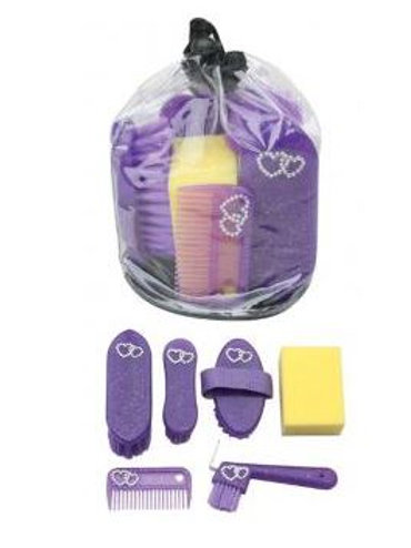 7PC Bling Grooming Set - Purple