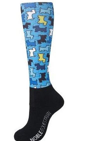 Adult Puppy Palooza Peddies Socks