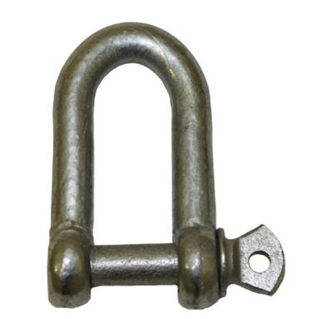 10mm Galvanised D Shackle