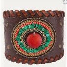 Bracelet - Horizon Cuff Adobe Orange