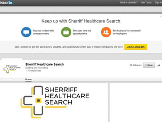 Relaunched Sherriff Healthcare Search LinkedIn Company Profile