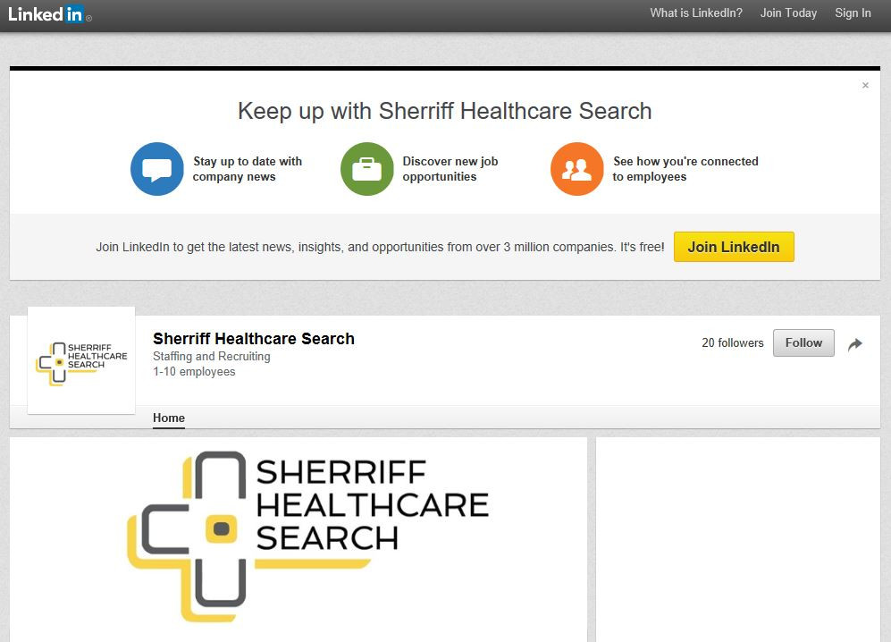 Sherriff Healthcare Search LinkedIn Company Profile