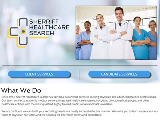 Sherriff Healthcare Search Website Now Live!