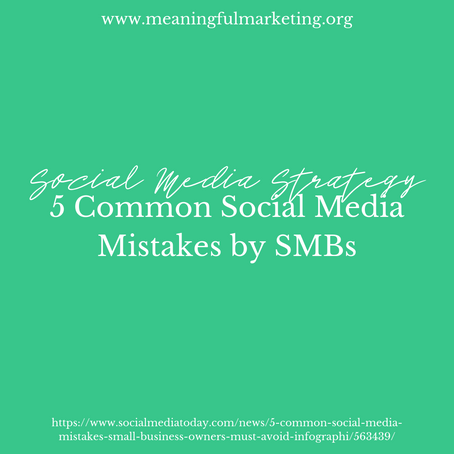 5 common social media mistakes by small business owners