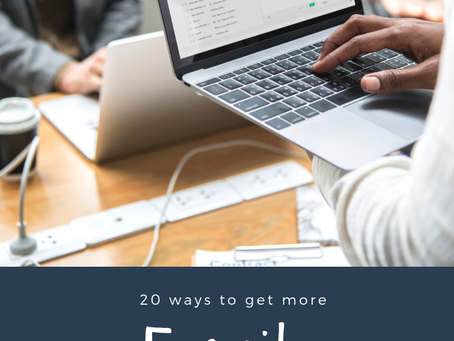20 Ways to Get More Email Sign Ups!