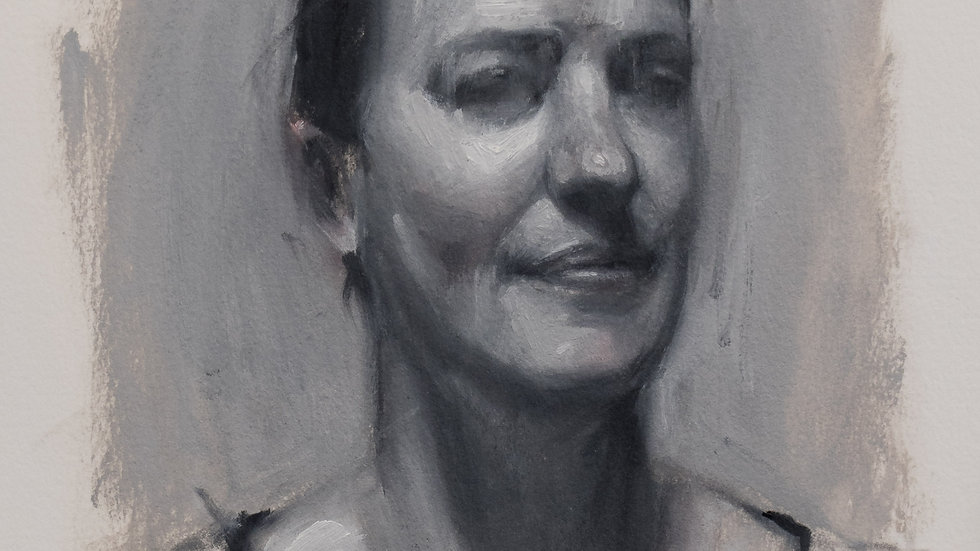 Black and White Portrait Study 2