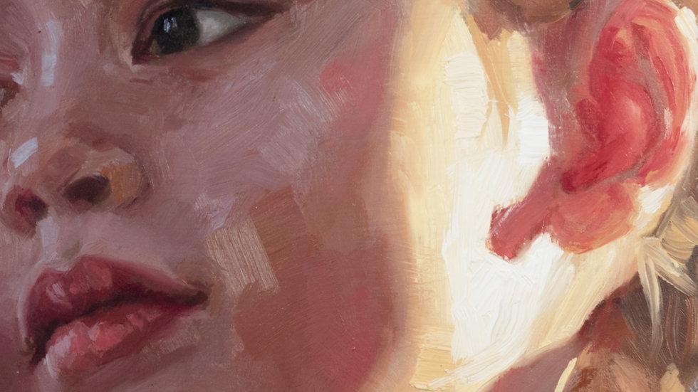 Backlit Young Girl