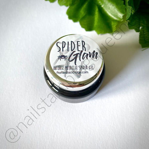 Spider Glam! Metallic Silver spider gel