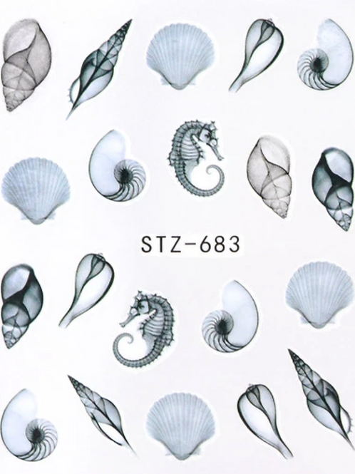 Delicate Seashell Water Decal
