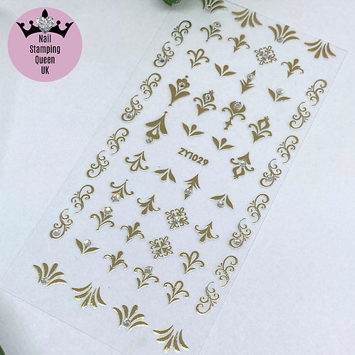 Gold Embossed Stickers