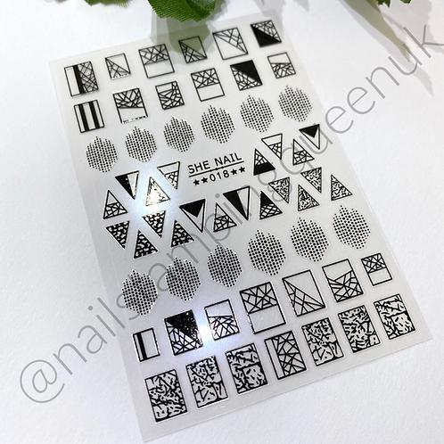 Mosaic Black Stickers