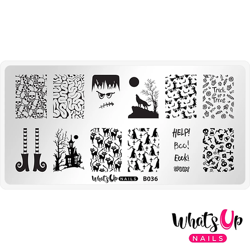 Whats Up Nails Eeks and Screams Stamping Plate