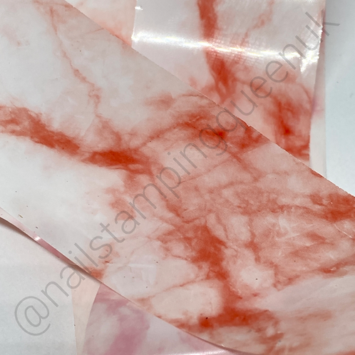 Red Marble Transfer Foil