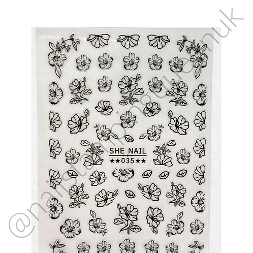 Floral Accents Stickers - 3 Colours