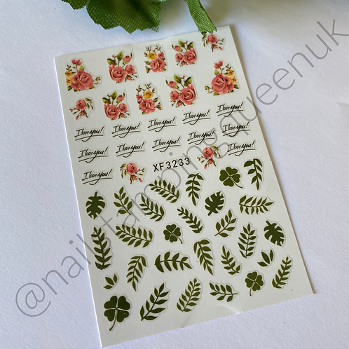 Flowers & Leaves Stickers