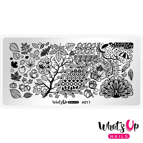 Whats Up Nails Leaves are Fall-ing Stamping Plate