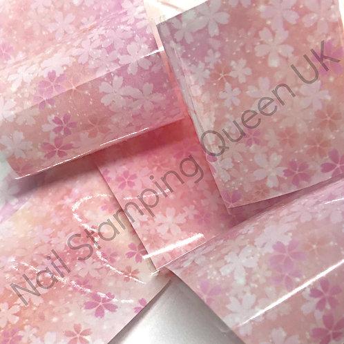 Pink Blossom Transfer Foil