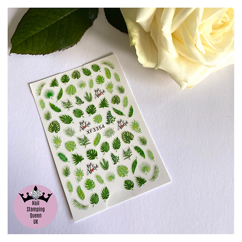 Green Leaves Stickers