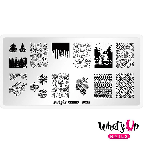 Whats Up Nails Icy Wonderland Stamping Plate
