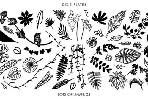Dixie Mini Lots of Leaves 03 Plate
