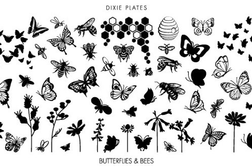 Dixie Mini Butterflies & Bees Plate