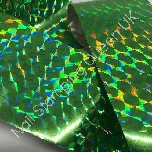 Green Honeycomb Transfer Foil