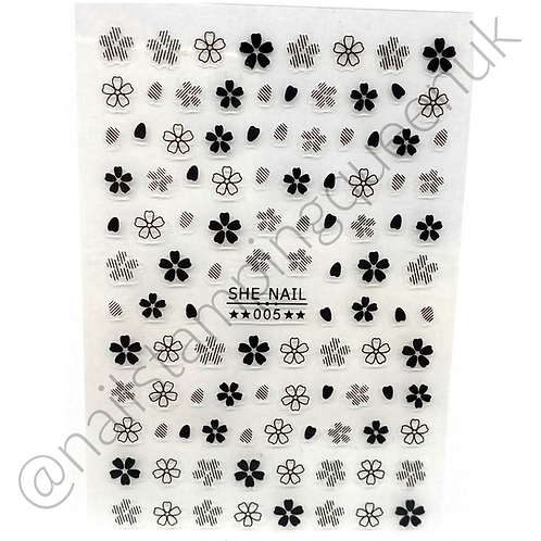 Doodle Flower Stickers - 3 Colours