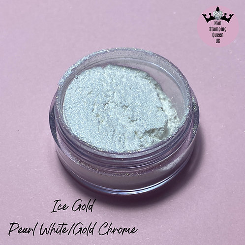 Ice Gold - White/Gold Chrome