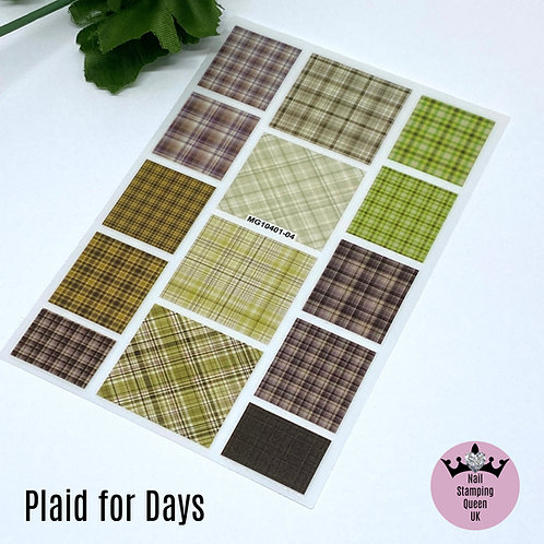 Plaid for Days Stickers