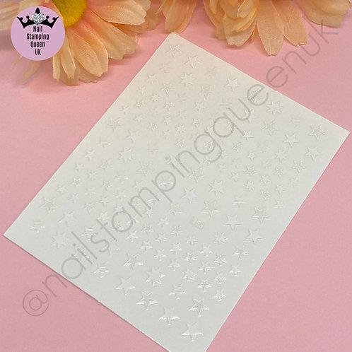 Star Stickers -White