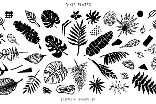 Dixie Mini Lots of Leaves 02 Plate