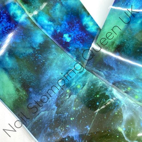 Emerald Galaxy Transfer Foil